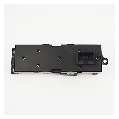 CMEI Interruptor de control maestro de la ventana del controlador del conductor apta para VW Bora Golf 4 Seat Leon1 Toledo2-2 Puertas, Negro