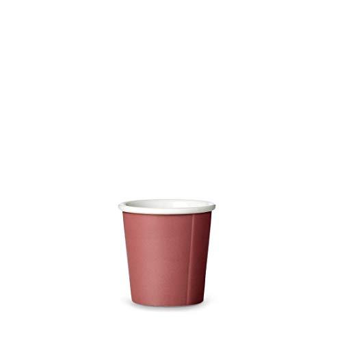 Viva Scandinavia - Anna - Tasse en Porcelaine Rouge Brique 0,80 ml