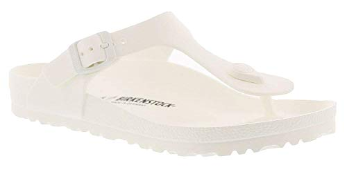 Birkenstock Essentials Unisex Gizeh EVA Sandals White 36 N EU (US Women's 5-5.5)