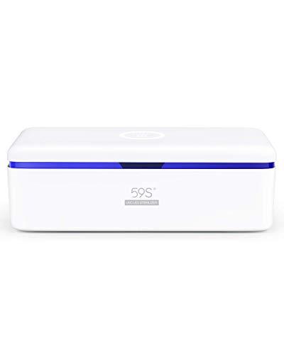 UV Sterilisator Box, UV Sterilisationsbox für Telefon, mit 8 Perlen Lampe Sterilisator Schnelle 99,9{999a12ae399f8995b35c91f1149803dec778ba700fb0bb4c47eb66199469bd21} geeignet für Mobiltelefone, Kosmetik, Werkzeuge