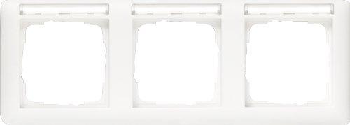 Gira 109327 Afdeklijst 3-voudig beschrijfbaar, horizontaal, zuiver wit zijdemat