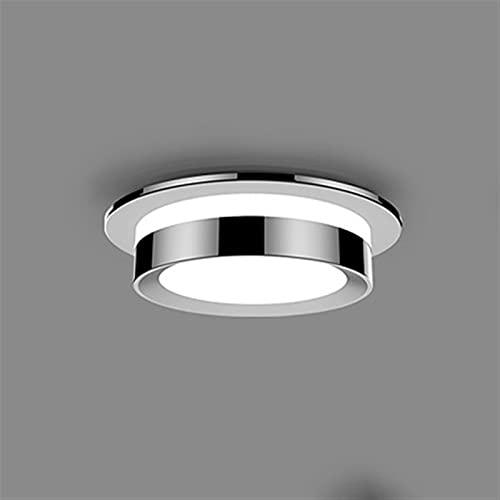 JXEXF Spotlight Empotrado Foco de Techo, COB LED Downlights Spot Light Light Downlight 6000K Luz Blanca Lámpara de Techo Foco de luz No Regulable, 5W / 7W / 9W / 12W (Color : Silver, Size : 12W)