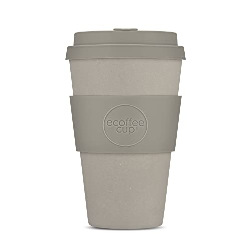Reusable Sustainable To-Go Travel Coffee-Cup - Ecoffee Cup - Portable Cups With No Leak Silicone Lid - Dishwasher Safe (14oz, Molto Grigio)