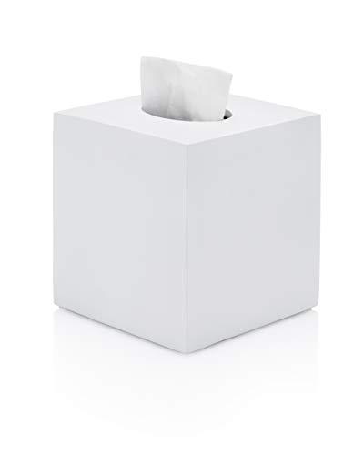 Essentra Home Matte White Square Tissue Box Cover
