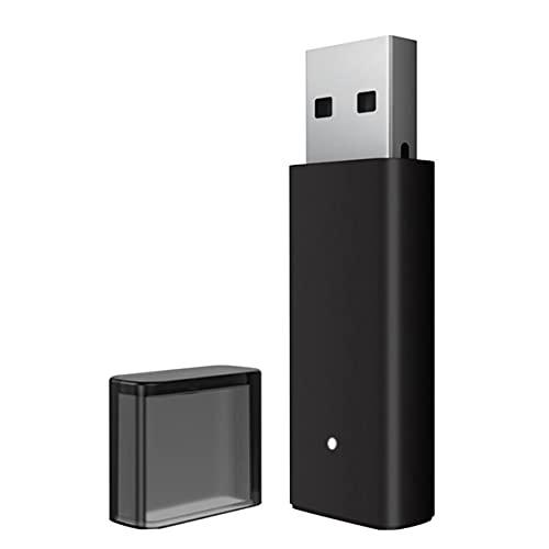 Surgewavelv Adaptador inalámbrico USB Adaptador inalámbrico para PC Adaptador de Gamepad 2.4G Dongle Receptor inalámbrico para Auriculares estéreo Laptop - Negro 5x2x0.6cm