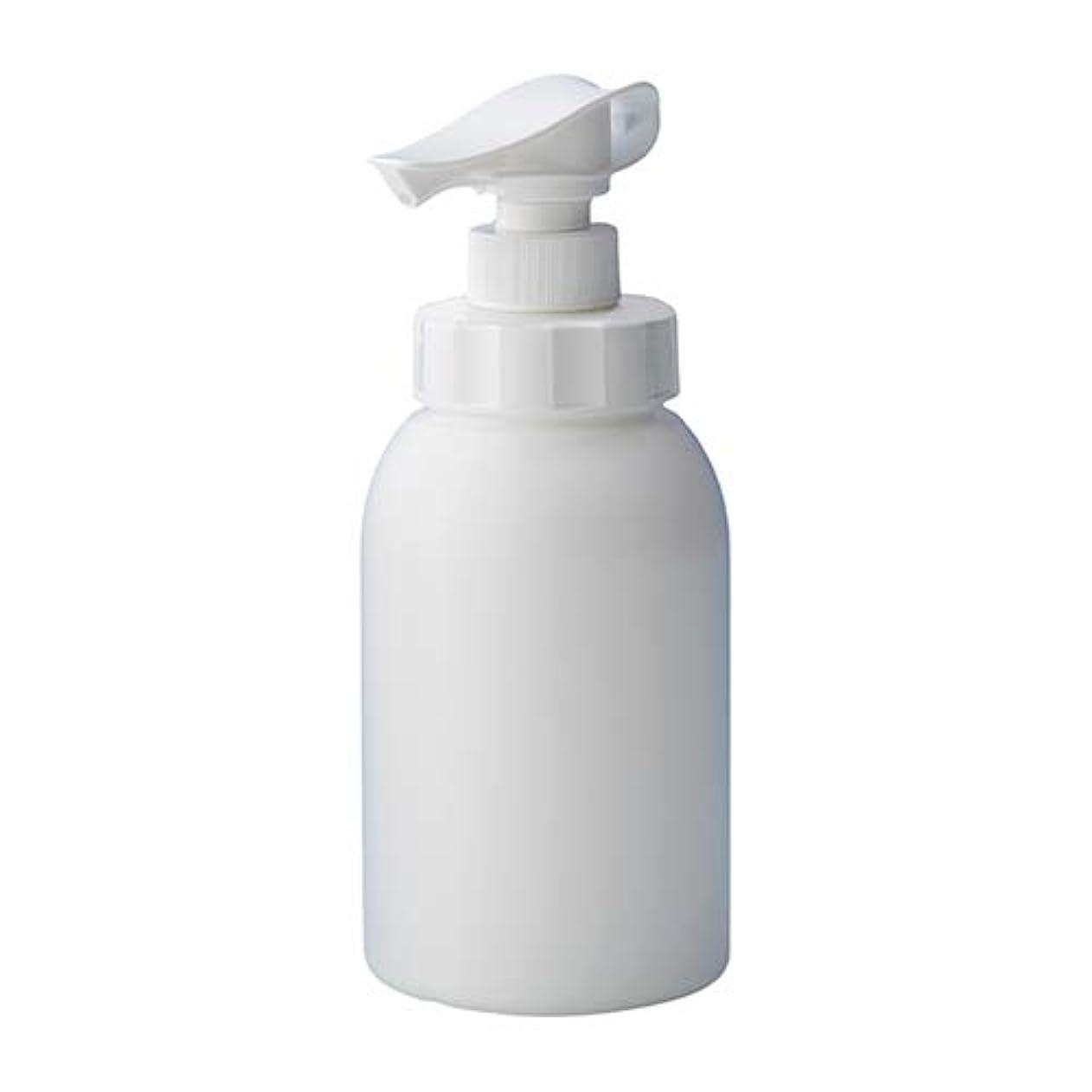 値ほめるこんにちは安定感のある ポンプボトル シャンプー コンディショナー リンス ボディソープ ハンドソープ 600ml詰め替え容器 ホワイト 10個セット