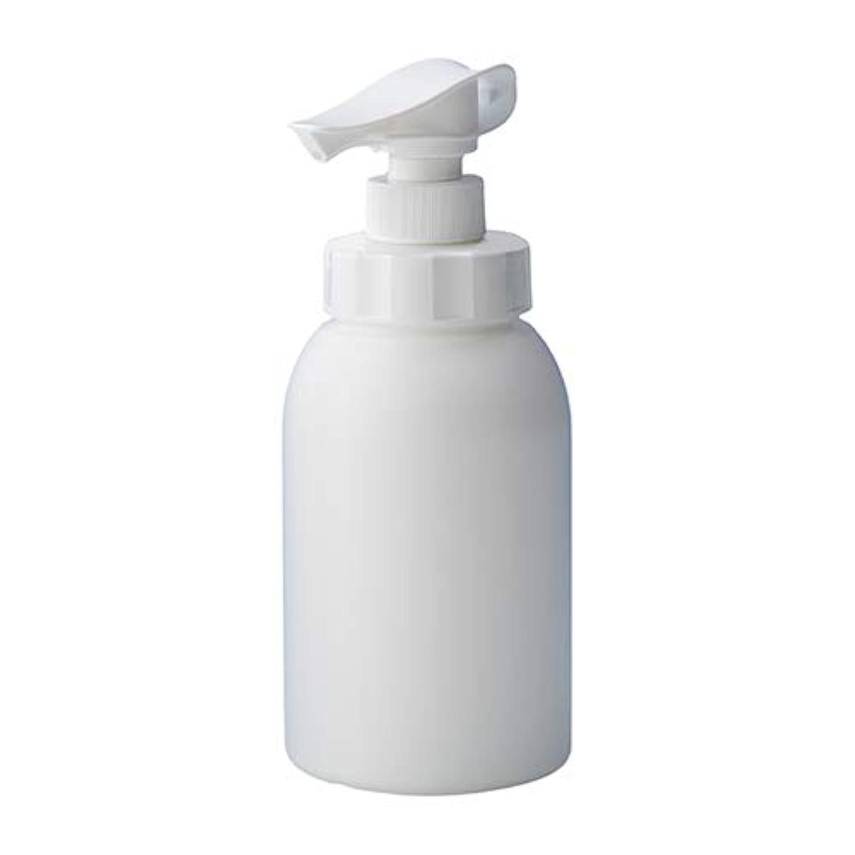 安定感のある ポンプボトル シャンプー コンディショナー リンス ボディソープ ハンドソープ 600ml詰め替え容器 ホワイト 10個セット