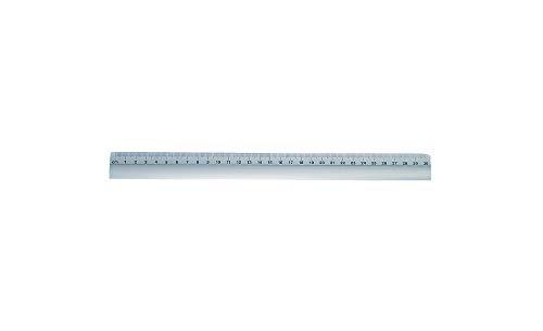 Wedo 525331 Lineal (aus Aluminium, mit rutschsicherer Gummieinlage, 30 cm) silber