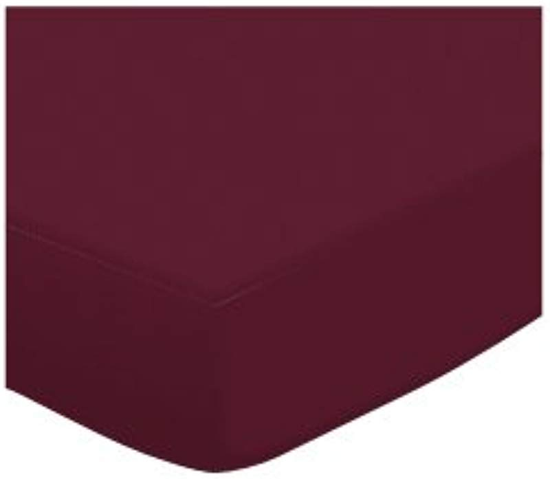 SheetWorld Fitted Crib Toddler Sheet Burgundy Jersey Knit Made In USA