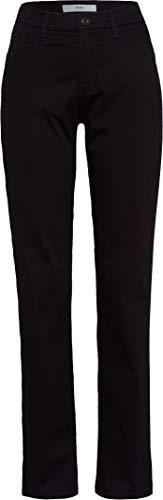 BRAX Damen StyleCarola City Sport Premium Five-Pocket Straight Fit Hose, Schwarz (Perma Black), 36