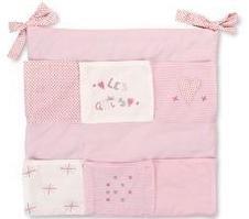 Imagen para Pirulos Les Amis - Murales cuna, color blanco y rosa