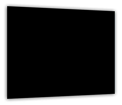 TMK | Herdabdeckplatte 60x52 Einteilig Glas | Elektroherd Induktion Herdschutz | Spritzschutz | Glasplatte Deko Schneidebrett | Schwarz