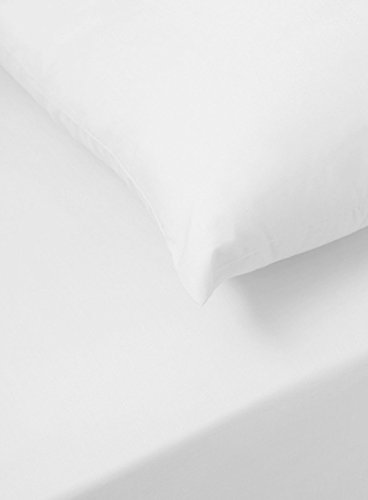 Sapphire Collection 200 Thread Count 100% Egyptian Cotton Fitted Sheet (Double, White)