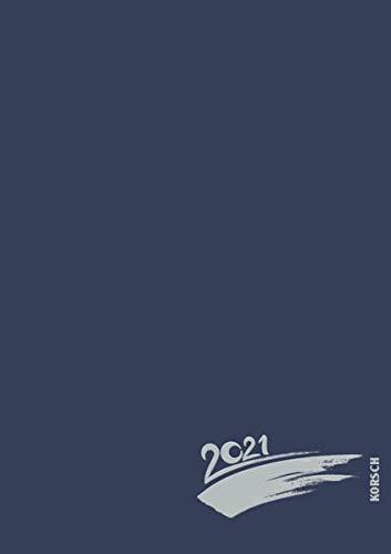 Foto-Malen-Basteln A4 dunkelblau mit Folienprägung 2021: Fotokalender zum Selbstgestalten. Do-it-yourself Kalender mit festem Fotokarton und edler Folienprägung.