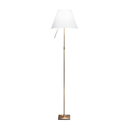 Luce Plan Limited Edition Costanza Bronce–Lámpara de pie, color blanco estructura Bronce con regulador táctil telescópico unidades limitadas a 1000unidades.