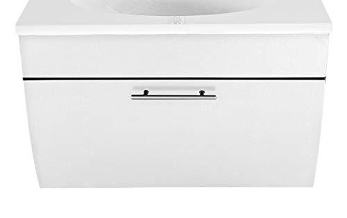 SAM Waschbecken-Unterschrank Santana, Hochglanz weiß, 1 Klappe, pflegeleichtes Badmöbel, 51 x 90 x 50 cm
