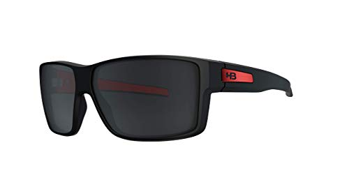 Óculos de sol BigVert HB Adulto Unissex Preto/Vermelho Único