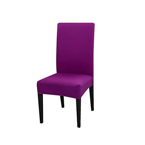 zxxin-Fundas Sillas Cubierta de Silla de Color sólido, 92% de poliéster y 8% Spandex, para sillas de Comedor en el hogar, (Color : Candy Purple, Specification : Universal Size)