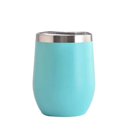BB&YING Återanvändbar kaffemugg, resemugg, rostfritt stål dubbelskikt termosmugg vakuumisolerad...