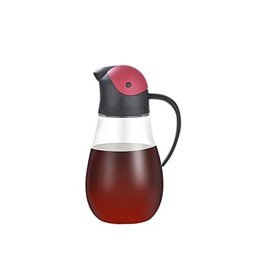 Heigmzyh Botella con Rociador Cocinar la Botella del dispensador de Aceite con el Aceite de Vidrio automático y la Botella del dispensador de vinagre para la Cocina, sin Goteo con el sput preciso, el