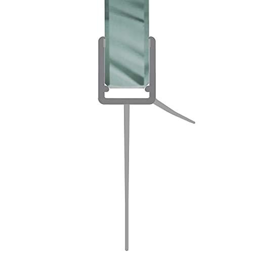 Duschdichtung gebogen Runddusche Schwallschutz Streifdichtung Ersatzdichtung Wasserabweiser Viertelkreis extra lange Dichtlippe 1 m für 4-8 mm Glasstärke