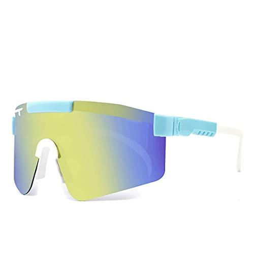 MAVL Gafas de sol cuadradas polarizadas polarizadas para mujeres y hombres - Protección UV color Mirror Lens- Retro Sports playa (color: C22)