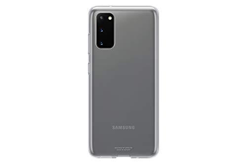 Samsung Clear Cover Smartphone Cover EF-QG980 für Galaxy S20 | S20 5G Handy-Hülle, extra-dünn und griffig, Schutz Case, durchsichtig, transparent - 6.2 Zoll