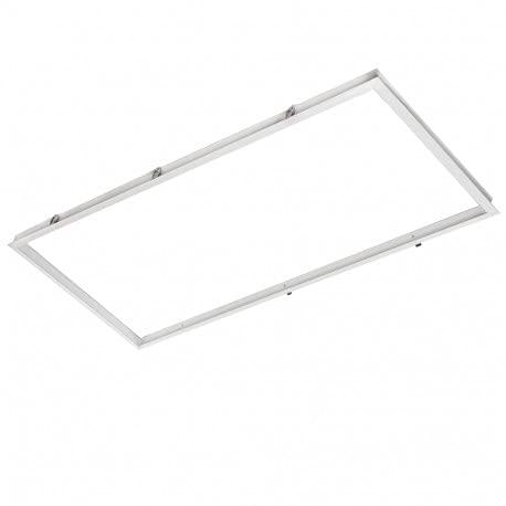 Marco Aluminio Panel LED 120x60Cm Kit empotrar paneles (Blanco)