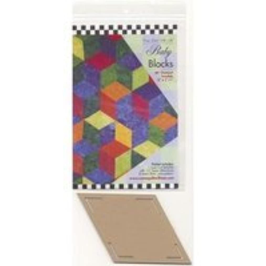 Come Quilt with Me Template - Baby Blocks 60 degree Diamond Template 6