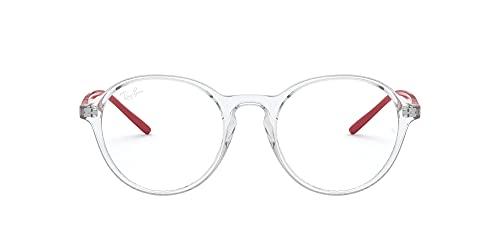 RX7173F - Monturas de gafas redondas de ajuste asiático, lente transparente/demostración, 51 mm