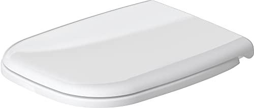Duravit 67310099 Abattant/Siège Lunette de WC avec Charnières en Acier Inoxydable, Blanc