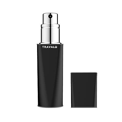 Travalo Atomiseur de Parfum Obscura Noir pour Vaporisateur Rechargeable Unisexe de 0,17 oz Vide