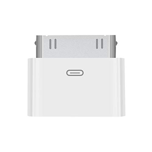 Lightning to 30 Pin Adapter Charging Sync Connector 8 Pin Female to 30 Pin Male Adapter Adapter for Select iPhone, iPad and iPod Models (White)