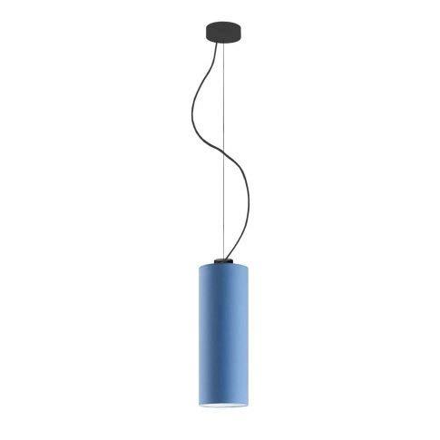 Lámpara de techo Bolonia, pantalla de lámpara azul marco negro