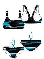 Tecno Pro INTERSPORT Duitsland eG 4034000 - Meis-Bikini Karen 400 BLUE/GREEN 152