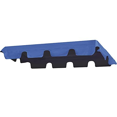 bonsport Ersatzdach für Hollywoodschaukel mit Volant - Dach Sonnendach für 2-Sitzer und 3-Sitzer, blau