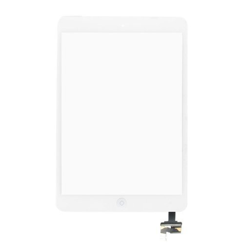 Digitizer Touch Screen with Ic Connector Home Flex Assembly for Ipad Mini (White)