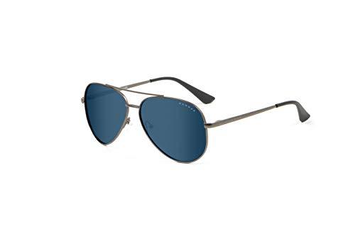 Blue Light Blocking Sunglasses |Maverick/Gunmetal by Gunnar  | 90% Blue Light & Sun Protection (100% UVA/UVB), 100% UV Light, Anti-Reflective To Protect & Reduce Eye Strain & Dryness