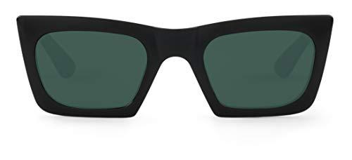 Mr. Boho Tomigaya, Gafas de Sol para Hombre y Mujer, Black, 49