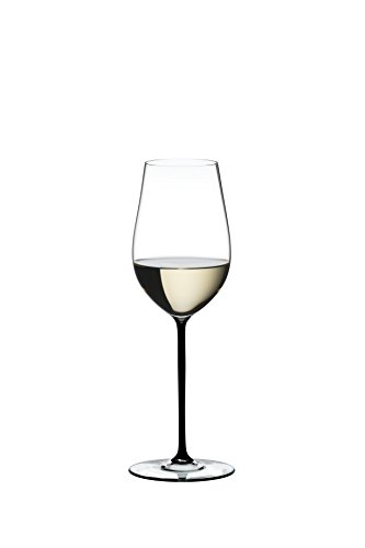 Riedel Fatto A Mano Riesling/Zinfandel Wine Glass, Black