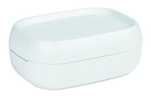 Rotho Sofia kleine Aufbewahrungsbox/Dekobox 3 l mit Deckel, Kunststoff (PP), weiß, 3 Liter (25 x 18 x 9,8 cm)