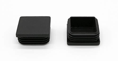20 Stück mai® Vierkant-Rohrstopfen 25 x 25 mm schwarz