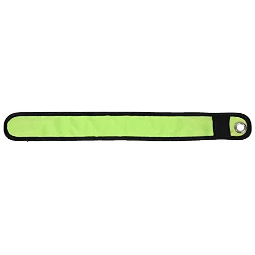 Pulsera Luminosa LED, Brazalete con LED, Pulsera Intermitente, Pulseras de bofetada iluminadas en Bicicleta, aptas para Trotar, Caminar, Andar en Bicicleta por la Noche(Amarillo)
