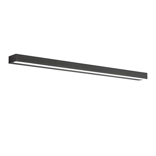 WYZ. Nordic Black Mirror koplamp, eenvoudig, modern, waterdicht, anti-condens, badkamer, kapcommode, make-up spiegel, LED-licht, wandlamp, [energieklasse A +] (kleur: warm licht)