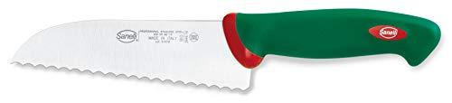 Sanelli Premana Professional Coltello Pizza seghettato, Acciaio Inossidabile, Verde/Rosso