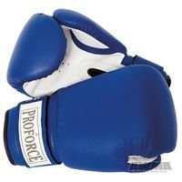 ProForce Leatherette Boxing Gloves, Blue & White 12 oz by ProForce