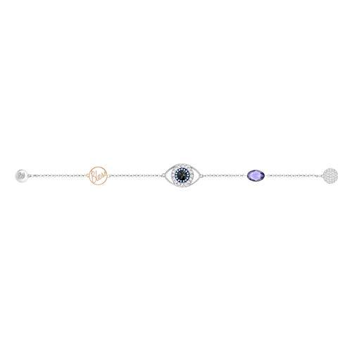 Swarovski Remix Collection Evil Eye Strand, Viola, Mix Di Placcature