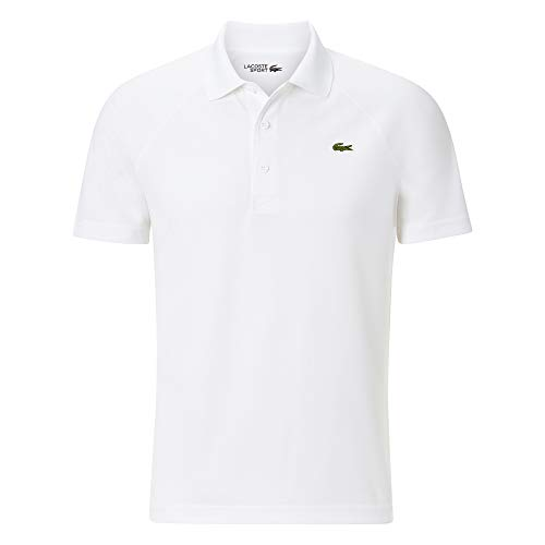 Lacoste Herren DH9631 Polo Shirt Kurzarm, Männer Polo-Hemd,3 Knopf, Regular Fit,White(001),X-Small (2)