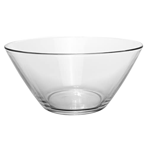 Medium Tapered Round Clear Glass Salad Serving And Mixing Bowl YJYDD