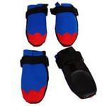 Freedog FD6000074 - Botas Neopreno, para Perro, Color Azul/Rojo